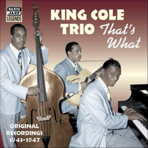 King Cole Trio - 'That's What' Product Image