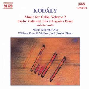 Kodály: Music for Cello Volume 2