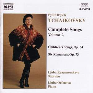 Tchaikovsky - Complete Songs Volume 2 Product Image