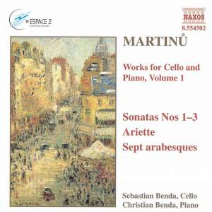 Martinu: Works for Cello & Piano, Vol. 1 Product Image