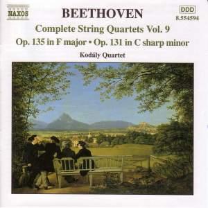 Beethoven: Complete String Quartets Vol. 9 Product Image