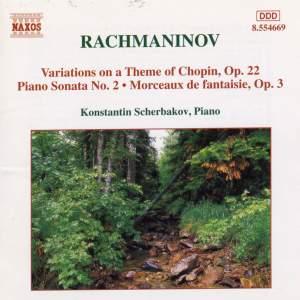 Rachmaninov: Piano Sonata No. 2 in B flat minor, Op. 36, etc. Product Image