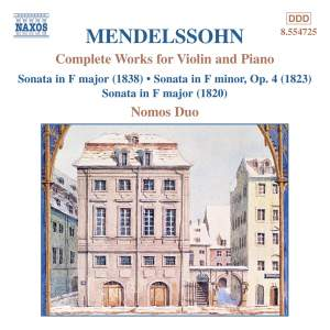 Mendelssohn: Complete Works For Violin And Piano Product Image