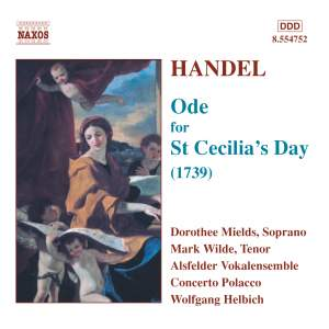 Handel: Ode for St Cecilia's Day, HWV76 Product Image