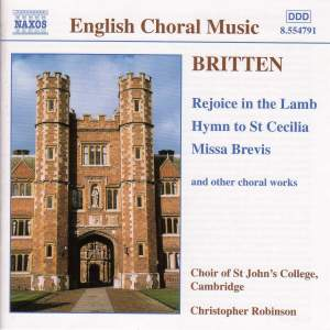 Benjamin Britten - Sacred Choral Music Product Image