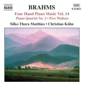 Brahms: Four Hand Piano Music, Volume 14 Product Image