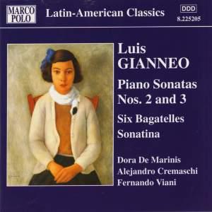 Luis Gianneo: Piano Sonatas Nos. 2 - 3