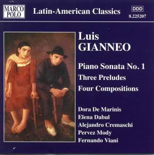 Luis Gianneo: Complete Piano Works Vol. 3 Product Image