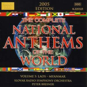 Complete National Anthems of the World, Vol. 5: Laos - Myanmar Product Image