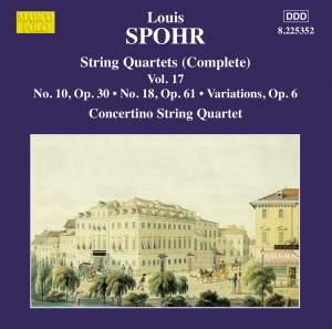Louis Spohr: String Quartets, Volume 17