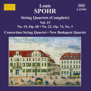 Louis Spohr: String Quartets, Volume 15 Product Image
