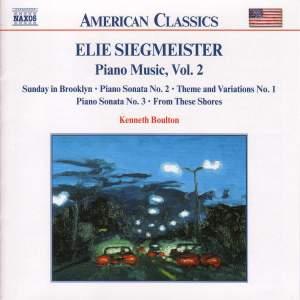 Elie Siegmeister: Piano Music, Vol. 2