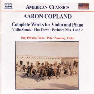 Copland: Complete Works for Violin and Piano Product Image