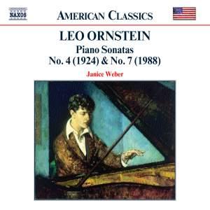 Ornstein: Piano Sonatas No. 4 (1924), No. 7 (1988) Product Image