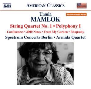 Ursula Mamlok: String Quartet No. 1 & Polyphony No. 1