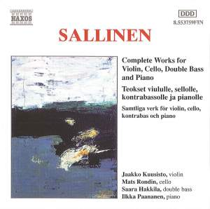 Sallinen: Complete Works for Violin, Cello, Double Bass and Piano Product Image
