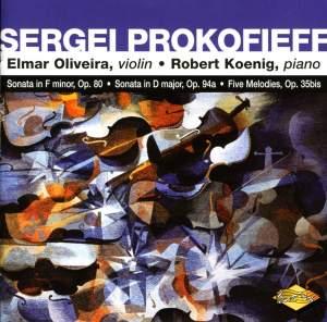 Prokofiev: Violin Sonatas Nos. 1 & 2, 5 Melodies Product Image