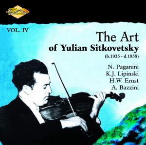 The Art of Yulian Sitkovetsky, Vol. 4 Product Image