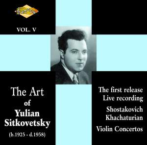The Art of Yulian Sitkovetsky, Vol. 5 Product Image
