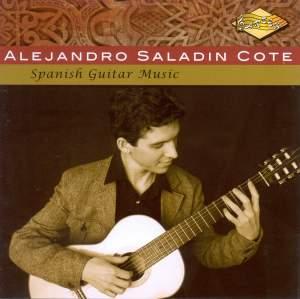 Guitar Recital: Cote, Alejandro Saladin - TURINA, J. / TARREGA, F. / ALBENIZ, I. / PUJOL, E. / LLOBET SOLES, M. Product Image