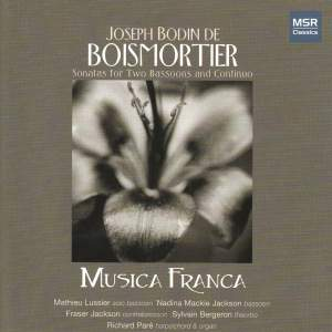 Boismortier: Sonatas for Two Bassoons and Continuo