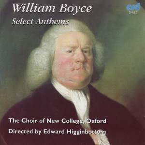 William Boyce - Select Anthems Product Image