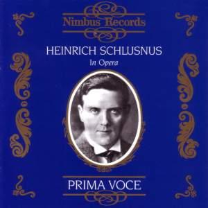 Heinrich Schlusnus in Opera