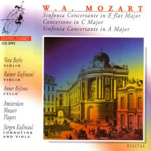 Mozart: Sinfonia Concertante in A (KV Anhang 104/320E), etc.