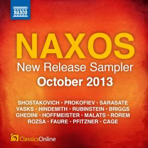Naxos October 2013 New Release Sampler