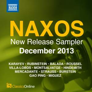 Naxos December 2013 New Release Sampler