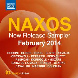 Naxos February 2014 New Release Sampler