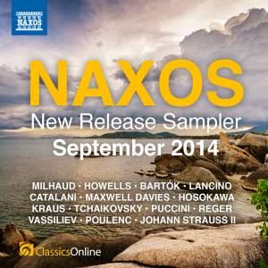 Naxos September 2014 New Release Sampler