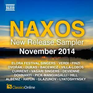 Naxos November 2014 New Release Sampler