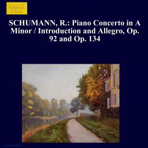 Schumann: Piano Concerto in A Minor & Introductions and Allegros Product Image