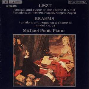Brahms & Liszt: Handel - Bach Variations Product Image