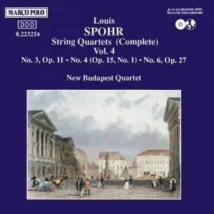 Louis Spohr: String Quartets, Volume 4 Product Image
