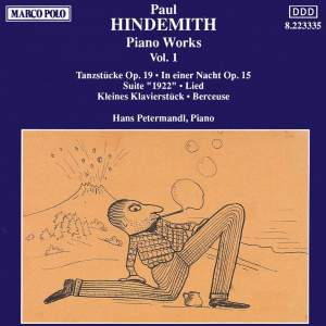 Hindemith: Piano Works, Vol. 1 Product Image