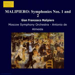 Malipiero: Symphonies Nos. 1 and 2 Product Image