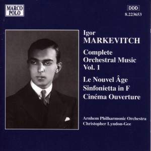 Igor Markevitch: Orchestral Music, Vol. 1 Product Image
