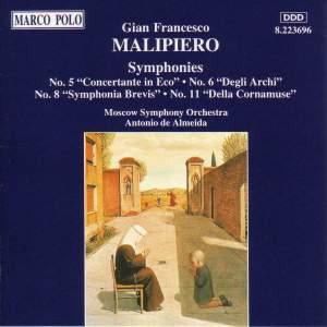 Malipiero: Symphonies Nos. 5, 6, 8 and 11