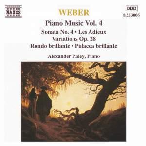 Weber: Piano Music Vol. 4