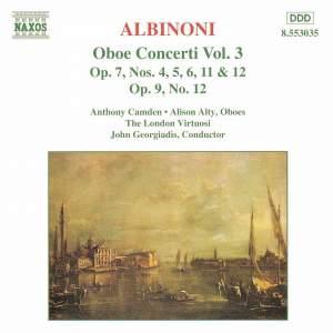 Albinoni: Oboe Concertos, Vol. 3 Product Image