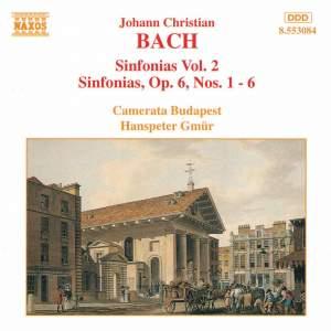 J. C. Bach: Sinfonias, Vol. 2