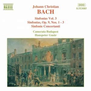J. C. Bach: Sinfonias, Vol. 3 Product Image