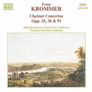 Krommer: Concerto for Two Clarinets in E flat major, Op. 35, etc.