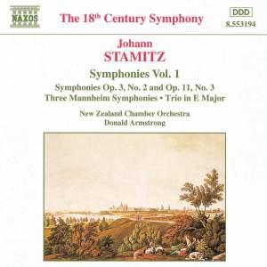 Johann Stamitz: Symphonies, Vol. 1