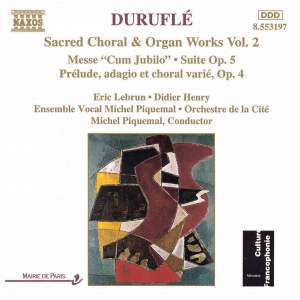 Duruflé - Sacred Choral & Organ Works, Vol. 2 Product Image