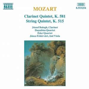 Mozart: Clarinet Quintet & String Quintet, K. 515 Product Image