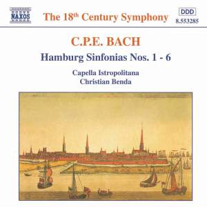 CPE Bach: Hamburg Sinfonias Nos. 1-6 Product Image