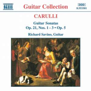 Carulli: Guitar Sonatas Op. 21, Nos. 1- 3 and Op. 5 Product Image